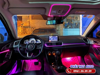 Độ đèn led viền nội thất Mazda 6