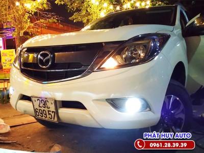 Độ đèn bi gầm Mazda BT50  bóng xenon siêu sáng
