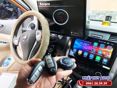 Độ chìa khóa thông minh Nissan Navara Start Stop Smartkey
