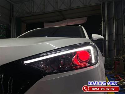 Độ đèn bi led Hyundai Tucson 2020