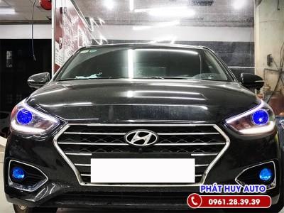Độ đèn bi gầm Hyundai Accent 2020